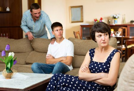 Woman and her young son offended after quarrel with her husband