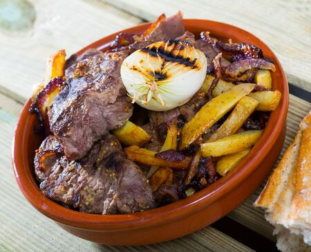 National Norwegian dish Seamans Beef - baked beef with pieces of potatoes