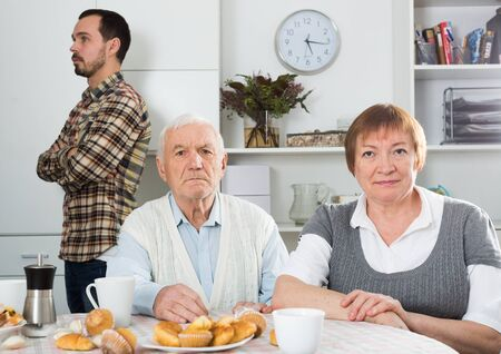 Grandson was offended by their elderly grandparents at home
