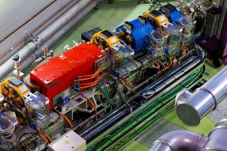 Cerdanyola del Valles, Spain - June 29, 2019: ALBA synchrotron accelerator tunnel 新聞圖片