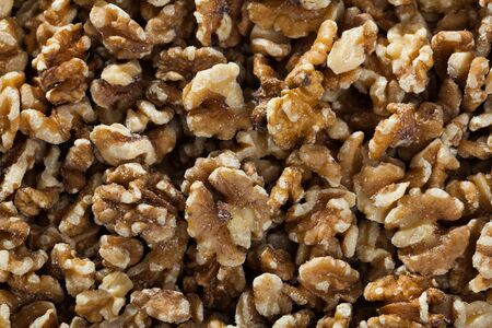 Dried kernels of walnuts - natural background
