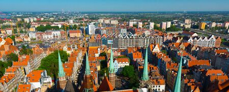 Image of picturesque cityscape of Gdansk in the Poland. Reklamní fotografie