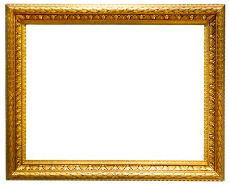 Classic golden picture frame