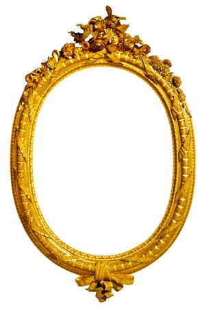 oval gold picture frame Stok Fotoğraf