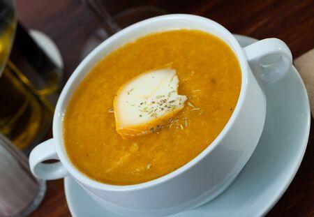 Delicious vegetable cream cheese soup