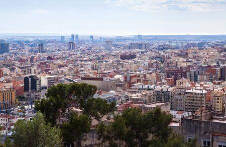 Top view of metropolitan area. Barcelona, Spain