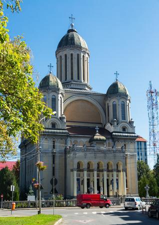 Image of Biserica Adormirea Maicii Domnului in Satu Mare in Romania. Editorial
