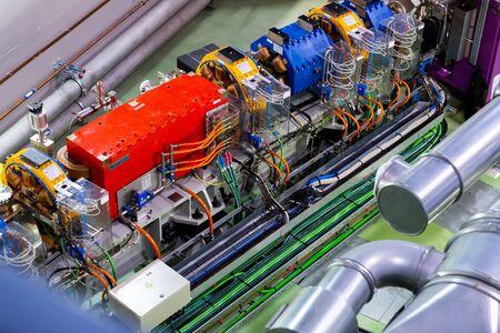 CERDANYOLA DEL VALLES, SPAIN - JUNE 29, 2019: Design of accelerator tunnel at ALBA synchrotron light source