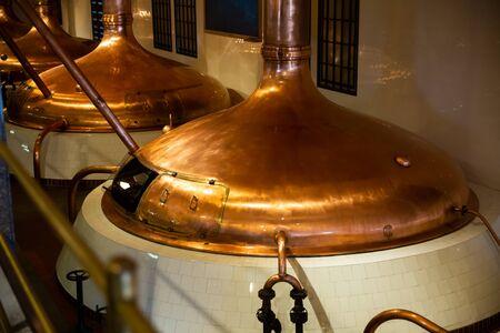 Brauerei Sudhaus Interieur. Moderne Brauerei Standard-Bild