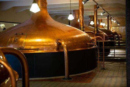 PILSEN, CZECH REPUBLIC - OCTOBER 10, 2019: View of brewhouse of Pilsner Urquell brewery