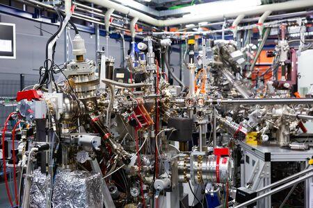 CERDANYOLA DEL VALLES, SPAIN - JUNE 29, 2019: Equipment of CIRCE beamline, one of seven beamlines of ALBA scientific experimental facility