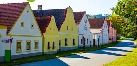 Traditional central european village of Holasovice. Czech Republic