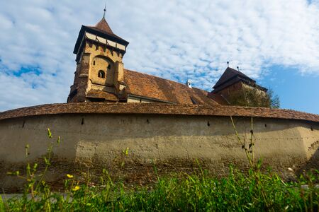 View of medieval Valea Viilor fortified church, Romania