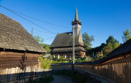 Church St. Nicolae is wooden landmark of Romania.