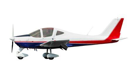 Light airplane isolated on white background Reklamní fotografie