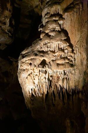 Interior view of Balcarka cave, part of Moravian Karst in South Moravian Region, Czech Republic