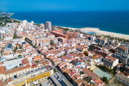 Image of picturesque seascape of Mataro in the Spain.