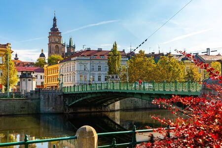 Picturesque streets of the city Hradec Kralove. Czech Republic Stok Fotoğraf