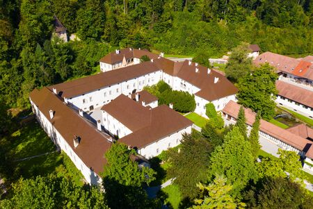 Top view on the roofs of Bistra castle. Vrhnika. Slovenia