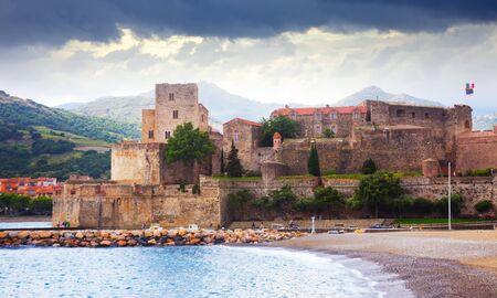 Medieval Royal castle in Mediterranean village Collioure in France