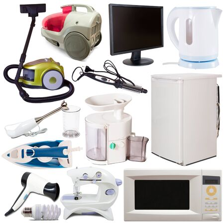 Set of household appliances isolated on white background Reklamní fotografie