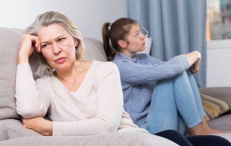Adult daughter quarreled with her mother Banco de Imagens