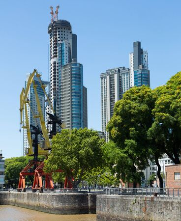 Views of Puerto Madero region on shore of bay, Buenos Aires. Argentina, South America