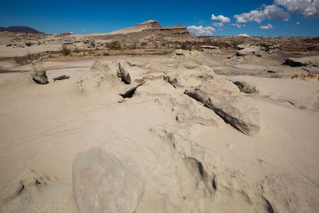 Landscape and stone desert in foothills of Andes, Ischigualasto Park, Argentina, Patagonia,