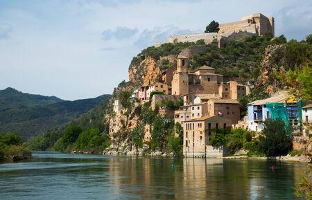 In Catalonia in the province Tarragona located Miravet old Castle Reklamní fotografie