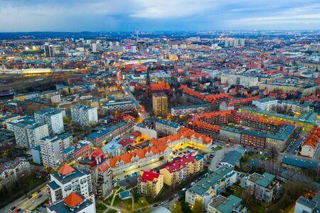 Aerial view on the city Katowice. Poland Zdjęcie Seryjne