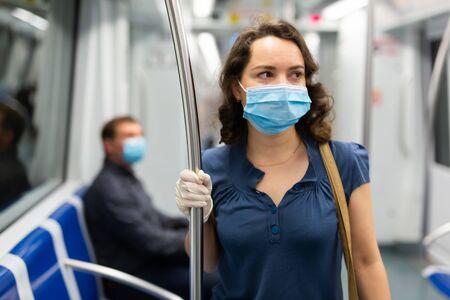 Subway ride during a virus pandemic COVID-19