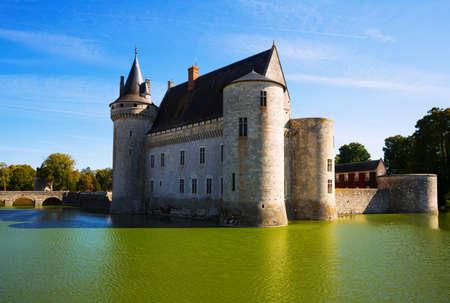 Impressive Renaissance architecture of Chateau de Sully-sur-Loire, France