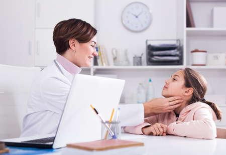 Teenage girl visits doctor