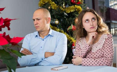 Offended pair after dispute Standard-Bild