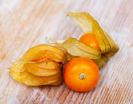 Ripe Peruvian physalis fruits Imagens