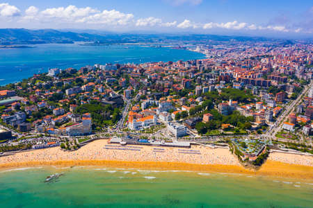 Spanish port city Santander Standard-Bild