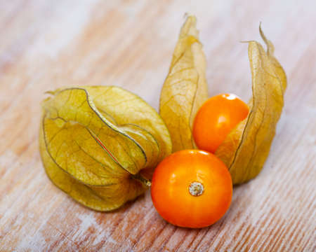 Orange cape gooseberries fruits Imagens