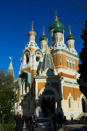Russian Saint Cathedral church building in Nice