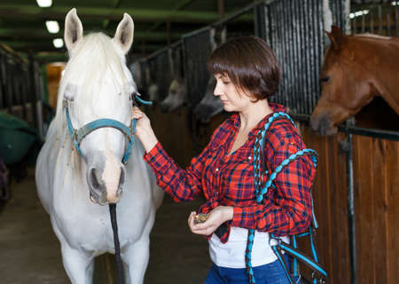 Woman who works at horse stable