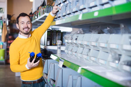 Guy deciding on best tools
