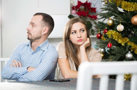 Offended couple after quarrel