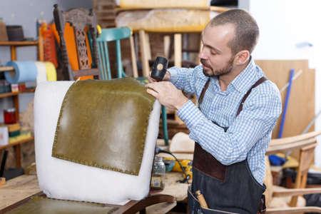 Furniture restorer renovation antique chair