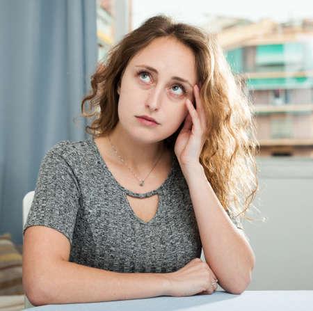Portrait of single sad woman