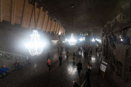 Interior of of the main cathedral in Wieliczka Salt Mine. Poland