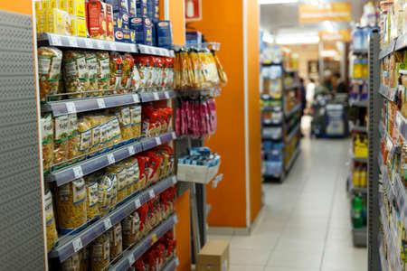Interior of supermarket in Barcelona