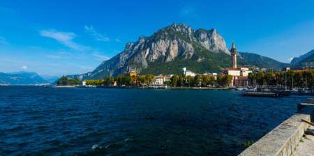 Italian city of Lecco on Lake Como