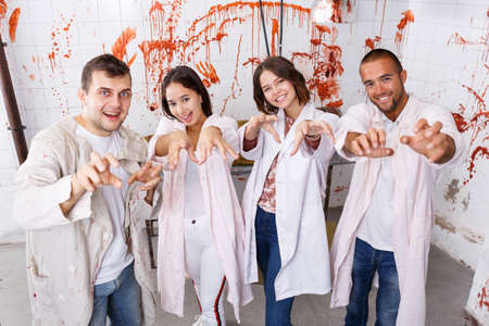 Young people posing as zombies Banque d'images