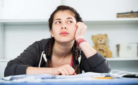 Girl being sad