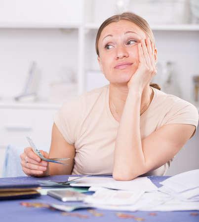 Woman facing financials troubles