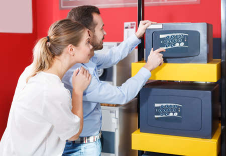 Nice couple looking for safe box